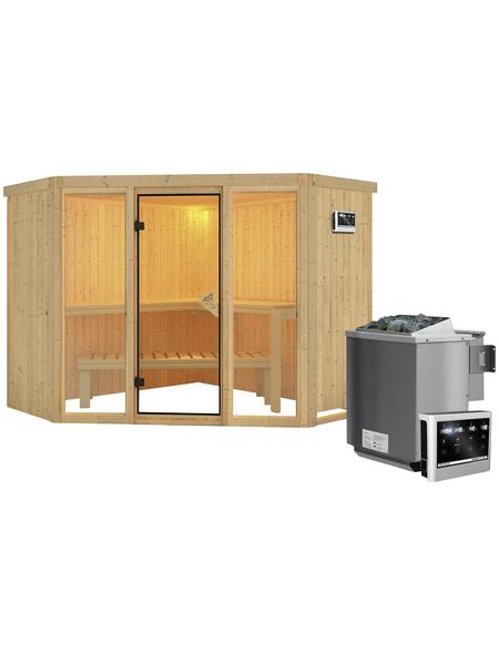 KARIBU Sauna »Tapa 2« mit Ofen, externe Steuerung