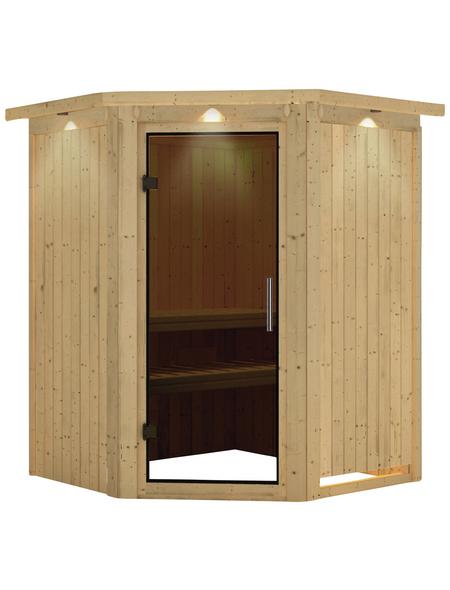 KARIBU Sauna »Tartu«, für 3 Personen ohne Ofen