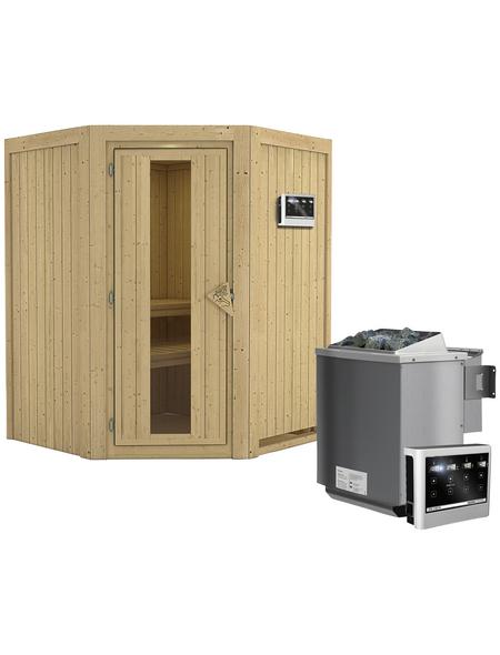 KARIBU Sauna »Tartu« mit Ofen, externe Steuerung