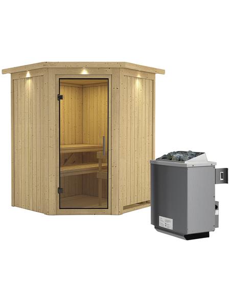 KARIBU Sauna »Tartu« mit Ofen, integrierte Steuerung