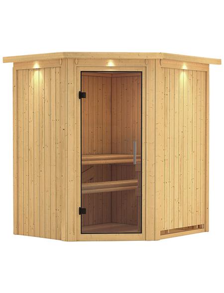 KARIBU Sauna »Tuckum«, für 3 Personen ohne Ofen