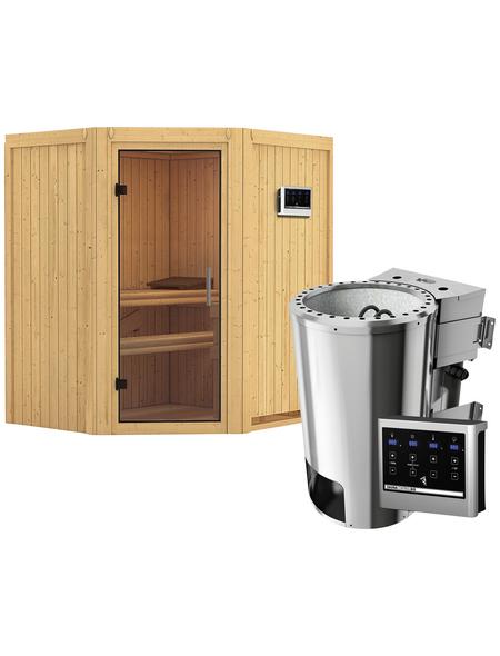 KARIBU Sauna »Tuckum«, inkl. 3.6 kW Plug&Play-Saunaofen mit externer Steuerung für 3 Personen