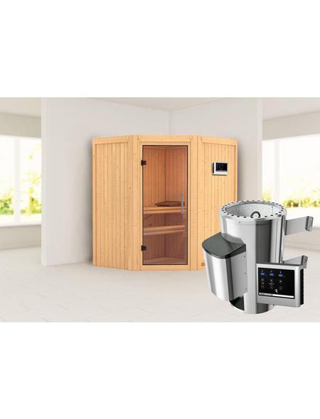 KARIBU Sauna »Tuckum«, mit Ofen, externe Steuerung