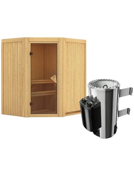 KARIBU Sauna »Tuckum«, mit Ofen, integrierte Steuerung