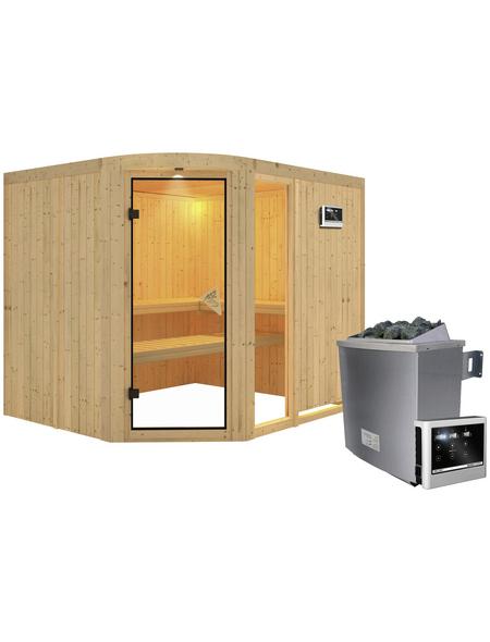 KARIBU Sauna »Türi«, inkl. 9 kW Saunaofen mit externer Steuerung für 4 Personen