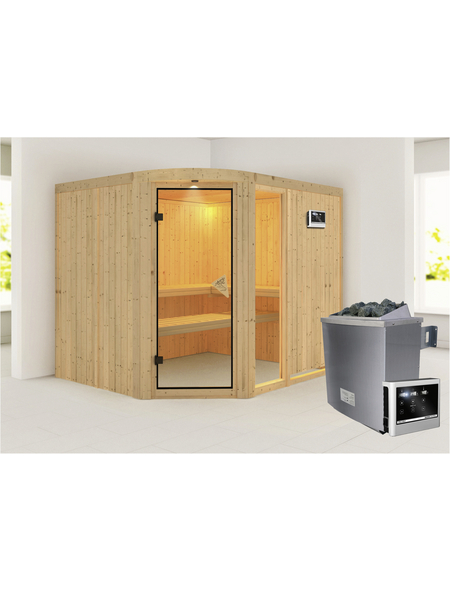 KARIBU Sauna »Türi« mit Ofen, externe Steuerung