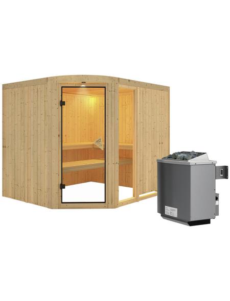 KARIBU Sauna »Türi« mit Ofen, integrierte Steuerung