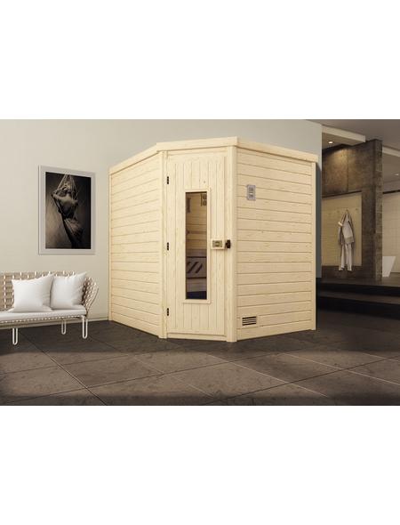 WEKA Sauna »Turku 2«, für 3 Personen ohne Ofen