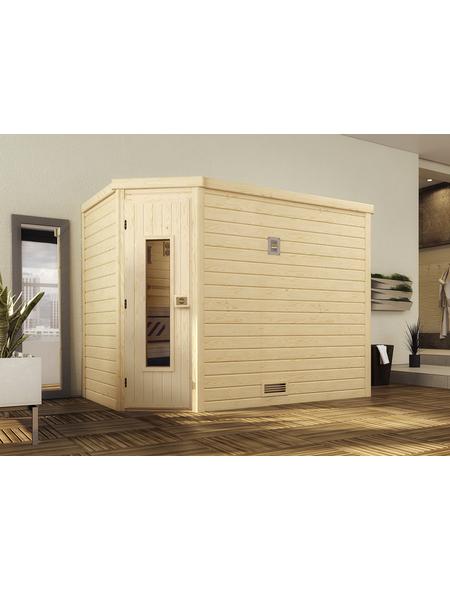 WEKA Sauna »Turku 3«, für 3 Personen ohne Ofen
