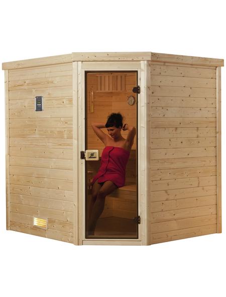 WEKA Sauna »Turku« mit Ofen, externe Steuerung
