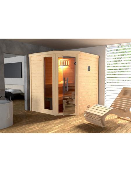 WEKA Sauna »Turku«, mit Ofen, integrierte Steuerung