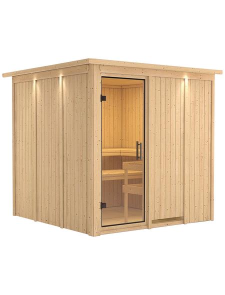 KARIBU Sauna »Valga«, für 4 Personen ohne Ofen