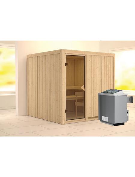 KARIBU Sauna »Valga«, inkl. 9 kW Saunaofen mit integrierter Steuerung für 4 Personen