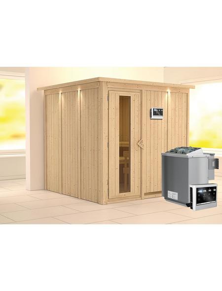 KARIBU Sauna »Valga« mit Ofen, externe Steuerung