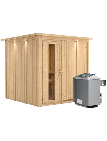 KARIBU Sauna »Valga«, mit Ofen, integrierte Steuerung
