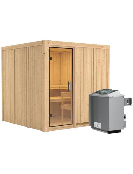 KARIBU Sauna »Valga« mit Ofen, integrierte Steuerung