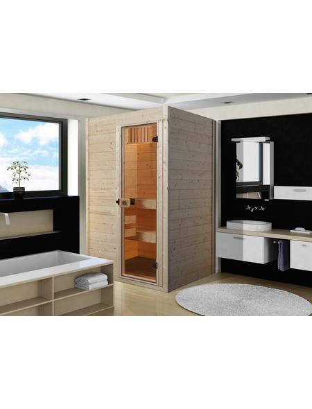 WEKA Sauna »Valia 1«, BxTxH: 139 x 139 x 203,5 cm, ohne Saunaofen