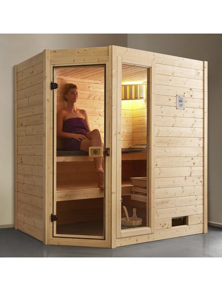 WEKA Sauna »Valida Eck 1«, BxTxH: 189 x 139 x 203,5 cm, ohne Saunaofen