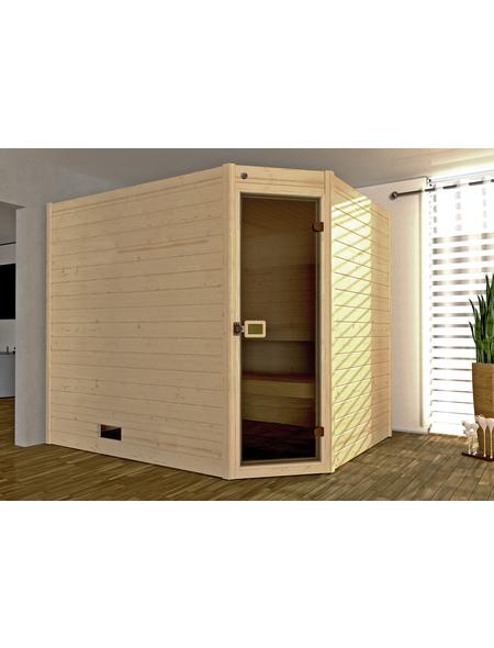 WEKA Sauna »Valida Eck 3«, für 5 Personen ohne Ofen