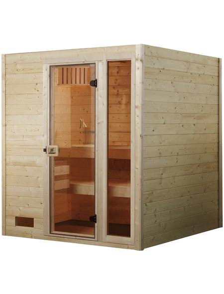 WEKA Sauna »VALIDA PLUS«, inkl. 9 kW Saunaofen mit integrierter Steuerung für 2 Personen