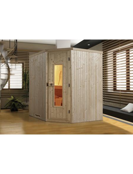 WEKA Sauna »VARBERG 2«, BxTxH: 194 x 198 x 199 cm, ohne Saunaofen