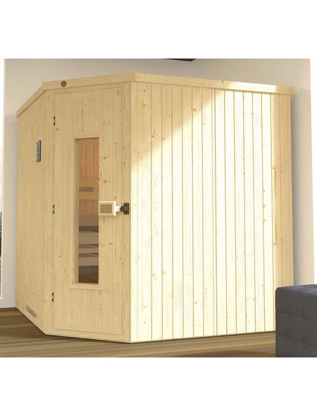 WEKA Sauna »Varberg 3«, BxTxH: 194 x 194 x 199 cm, ohne Saunaofen