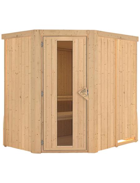 KARIBU Sauna »Vijandi«, für 3 Personen ohne Ofen