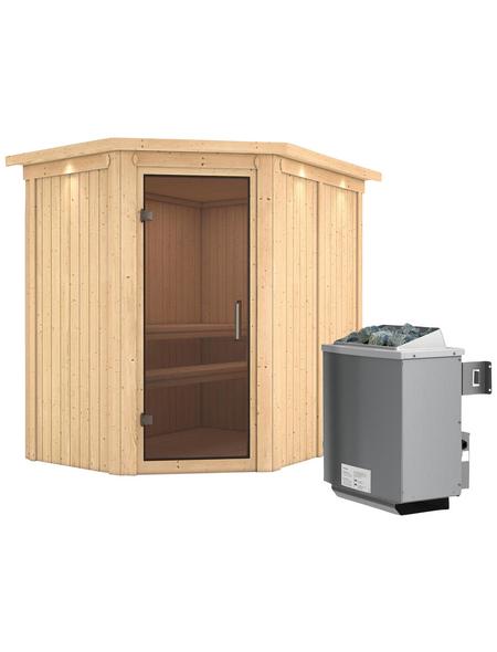 KARIBU Sauna »Vijandi«, inkl. 9 kW Saunaofen mit integrierter Steuerung für 3 Personen
