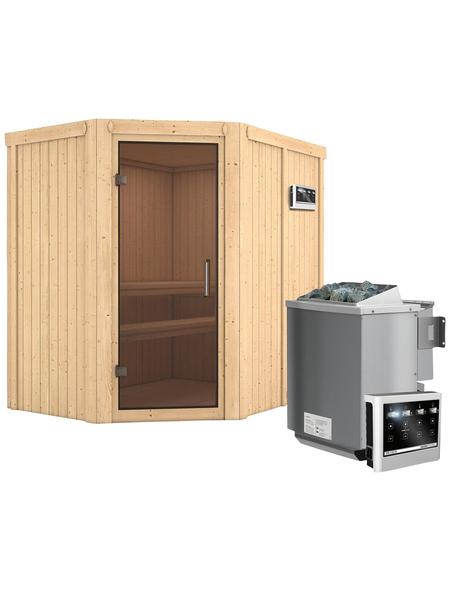 KARIBU Sauna »Vijandi« mit Ofen, externe Steuerung