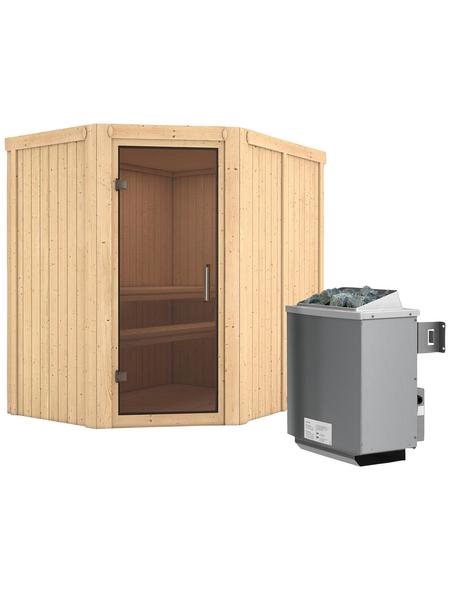 KARIBU Sauna »Vijandi«, mit Ofen, integrierte Steuerung