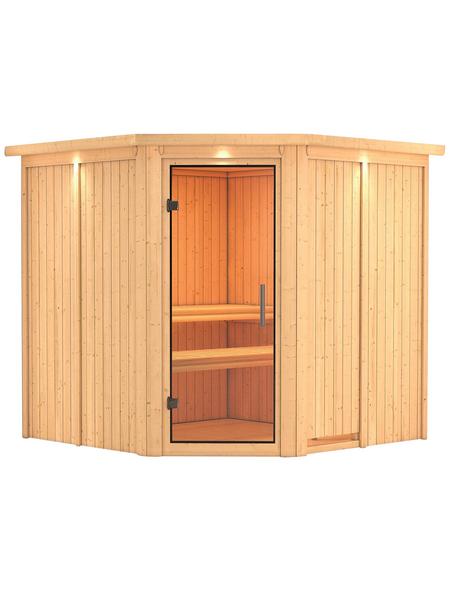 KARIBU Sauna »Vöru«, für 4 Personen ohne Ofen