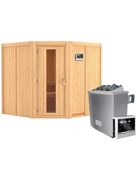 KARIBU Sauna »Vöru«, mit Ofen, externe Steuerung