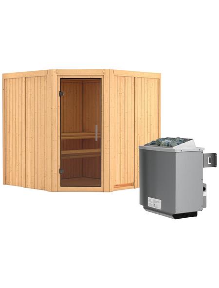 KARIBU Sauna »Vöru«, mit Ofen, integrierte Steuerung