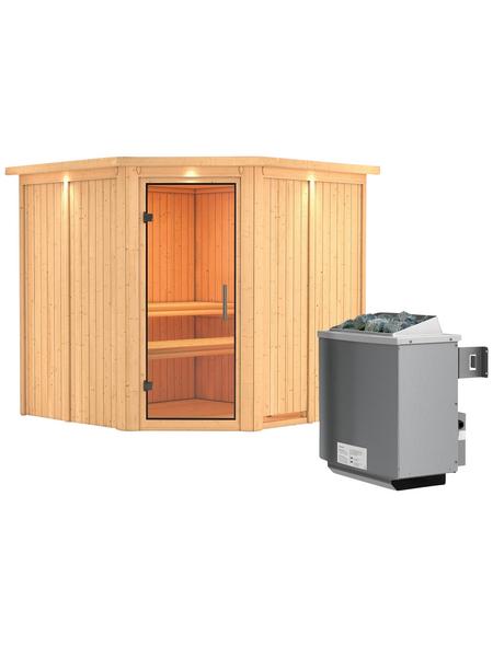KARIBU Sauna »Vöru« mit Ofen, integrierte Steuerung