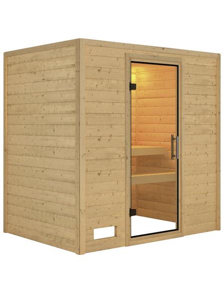 KARIBU Sauna »Welonen«, BxTxH: 196 x 146 x 198 cm, ohne Saunaofen