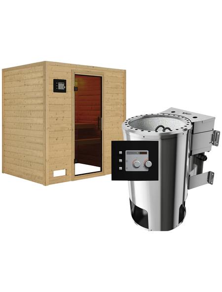 KARIBU Sauna »Welonen«, mit Ofen, externe Steuerung