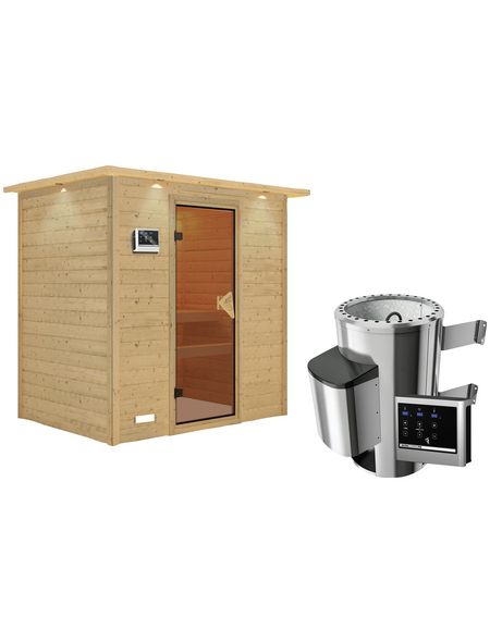 KARIBU Sauna »Welonen« mit Ofen, externe Steuerung