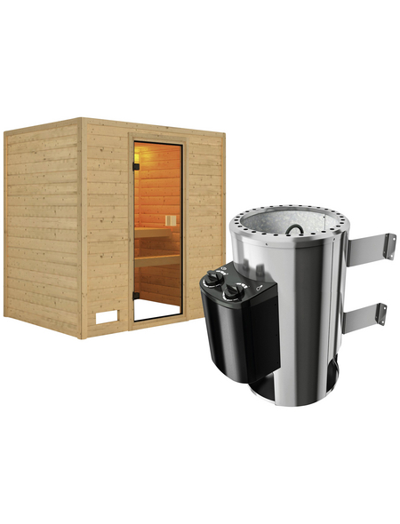 KARIBU Sauna »Welonen« mit Ofen, integrierte Steuerung