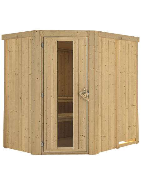 KARIBU Sauna »Wenden«, für 3 Personen ohne Ofen