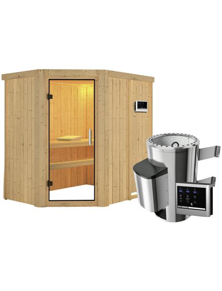 KARIBU Sauna »Wenden«, inkl. 3.6 kW Plug&Play-Saunaofen mit externer Steuerung für 3 Personen