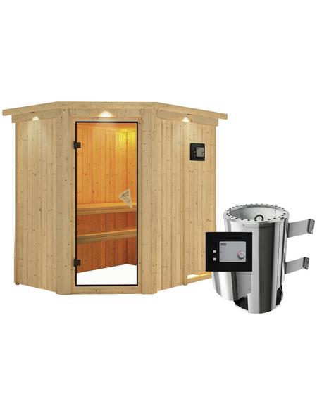 KARIBU Sauna »Wenden« mit Ofen, externe Steuerung