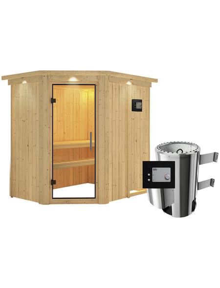 KARIBU Sauna »Wenden«, mit Ofen, externe Steuerung