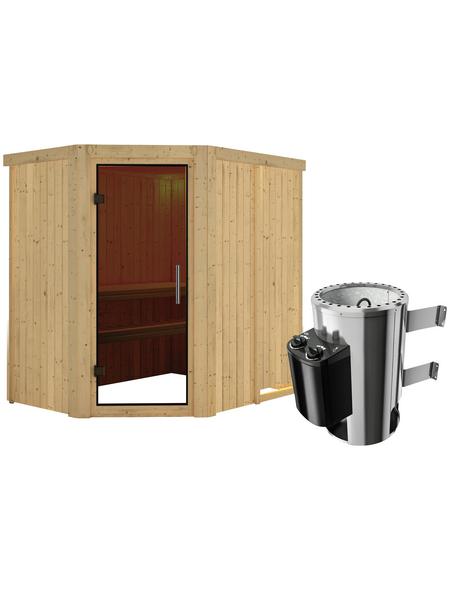 KARIBU Sauna »Wenden« mit Ofen, integrierte Steuerung