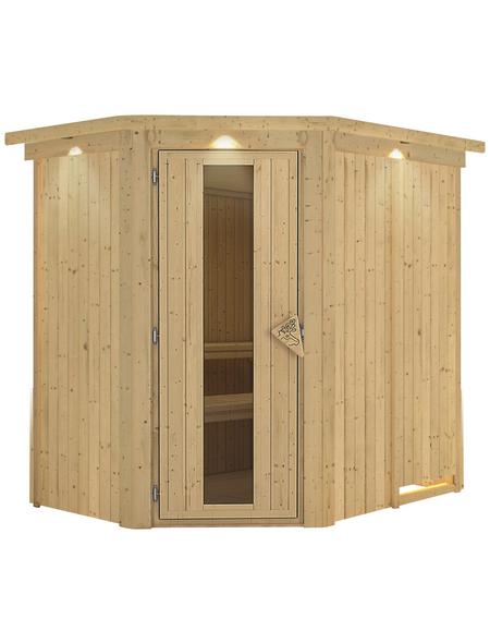 KARIBU Sauna »Wenden«, ohne Ofen