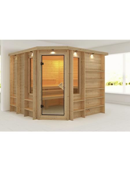 KARIBU Sauna »Windau«, BxTxH: 264 x 253 x 212 cm, ohne Saunaofen