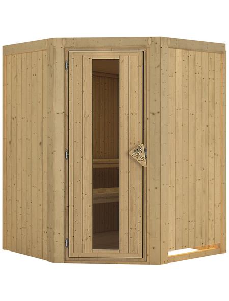 KARIBU Sauna »Wolmar«, für 3 Personen ohne Ofen
