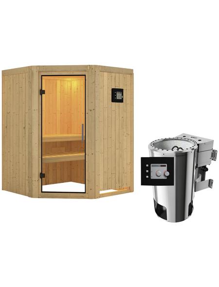 KARIBU Sauna »Wolmar« mit Ofen, externe Steuerung