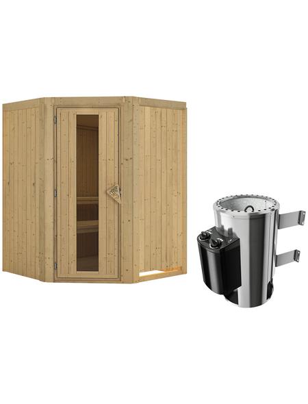 KARIBU Sauna »Wolmar«, mit Ofen, integrierte Steuerung