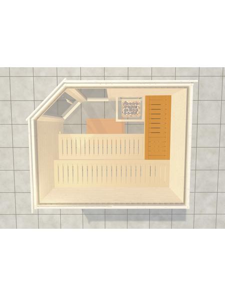 WEKA Saunabank »Querliege 2«, BxL: 52x111 cm