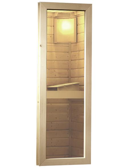 KARIBU Saunafenster, , geeignet für: Wandstärke von 38 oder 40 mm